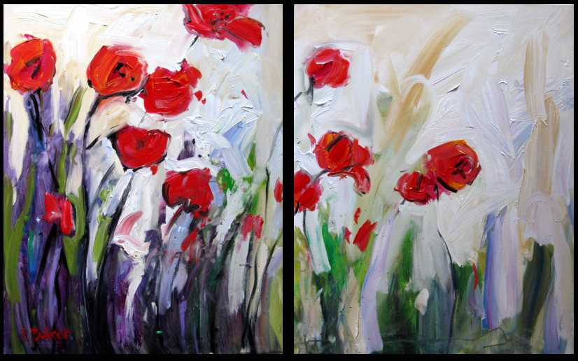 Fine art by patty baker original and commissioned for Painting large flowers in acrylic